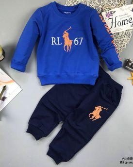 Đồ bộ bé trai dáng thể thao RL67 màu xanh (9-14tuổi)