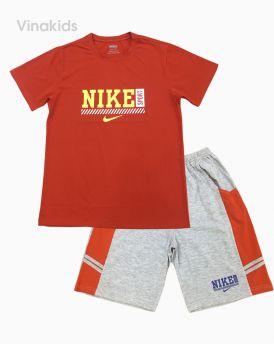 Đồ bộ bé trai họa tiết Nike màu đỏ cam 40kg-70kg