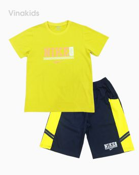 Đồ bộ bé trai họa tiết Nike màu vàng 40kg -70kg