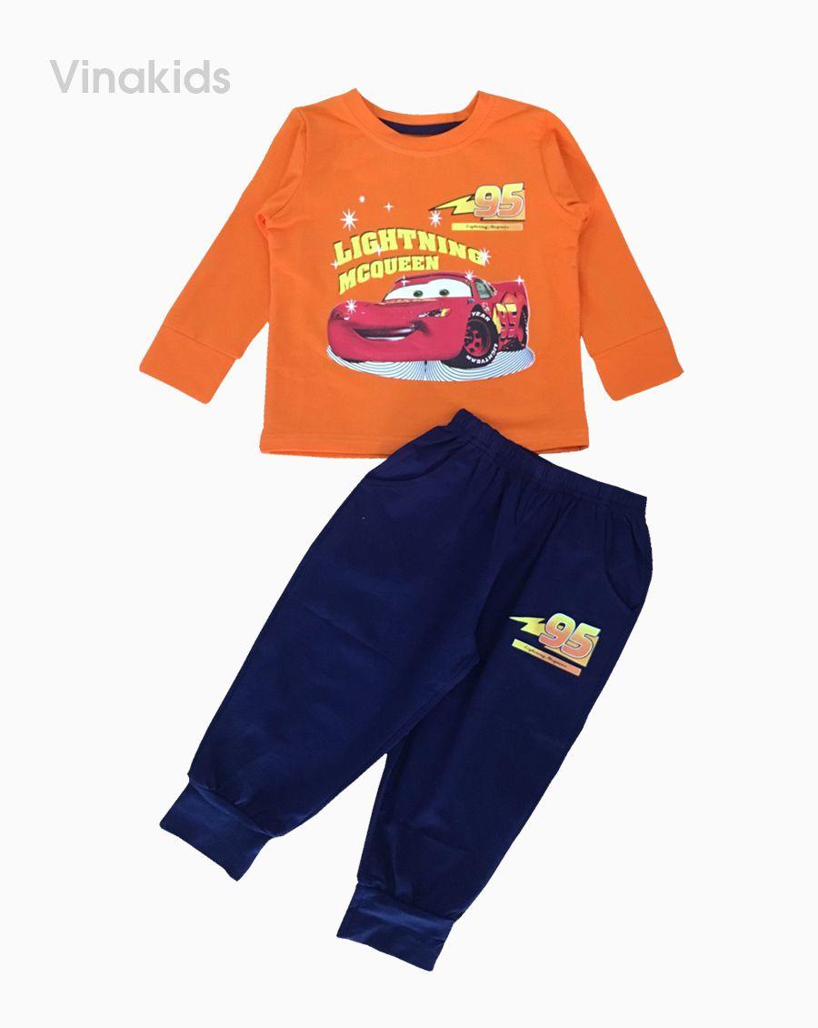 Đồ bộ bé trai họa tiết ô tô MC màu cam (1-7 tuổi)