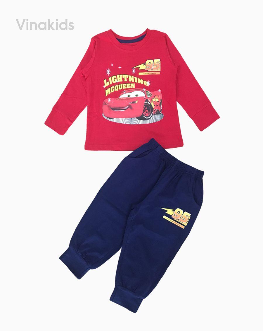 Đồ bộ bé trai họa tiết ô tô MC màu đỏ (1-7 tuổi)