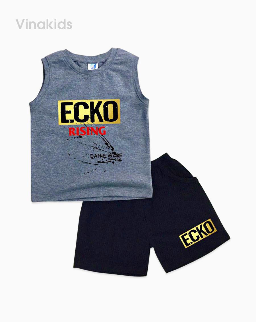 Đồ bộ bé trai Ecko màu ghi
