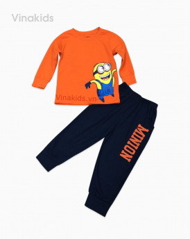 Đồ bộ bé trai minion màu cam