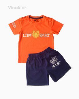 Đồ bộ bé trai ngắn tay Kenzo màu cam (1-6 tuổi)