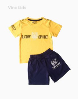 Đồ bộ bé trai ngắn tay Kenzo màu vàng (1-6 tuổi)