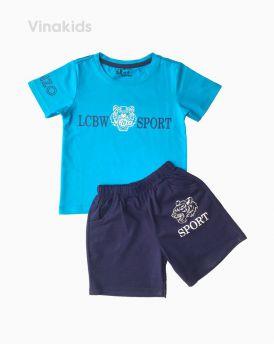 Đồ bộ bé trai ngắn tay Kenzo màu xanh ngọc (1-6 tuổi)