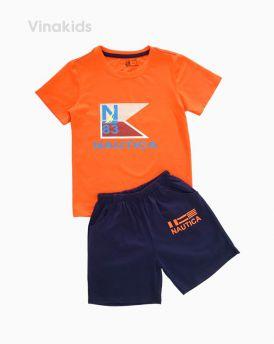 Đồ bộ bé trai ngắn tay N83 màu cam (7-10 tuổi)