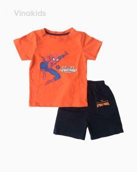 Đồ bộ bé trai ngắn tay người nhện màu cam size 1-7 tuổi