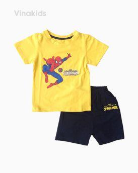 Đồ bộ bé trai ngắn tay người nhện màu vàng size 1-7 tuổi