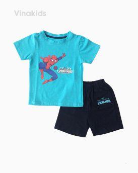 Đồ bộ bé trai ngắn tay người nhện màu xanh size 1-7 tuổi