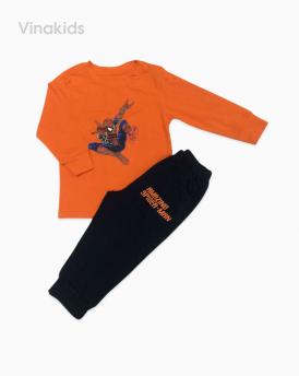 Đồ bộ bé trai nhí siêu nhân màu cam