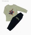 Đồ bộ bé trai nhí siêu nhân màu ghi ( 5-7 tuổi)