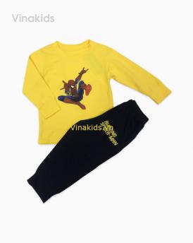 Đồ bộ bé trai nhí siêu nhân màu vàng