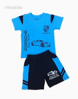 Đồ bộ bé trai ô tô màu xanh dương
