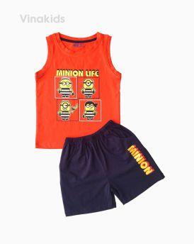 Đồ bộ bé trai sát nách Minion màu cam (1-7 tuổi)