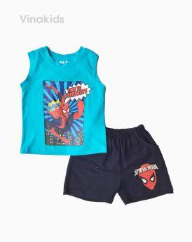 Đồ bộ bé trai sát nách siêu nhân màu xanh (1-7 tuổi)