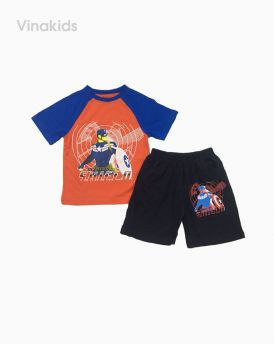 Đồ bộ bé trai siêu nhân 4-8 tuổi màu cam