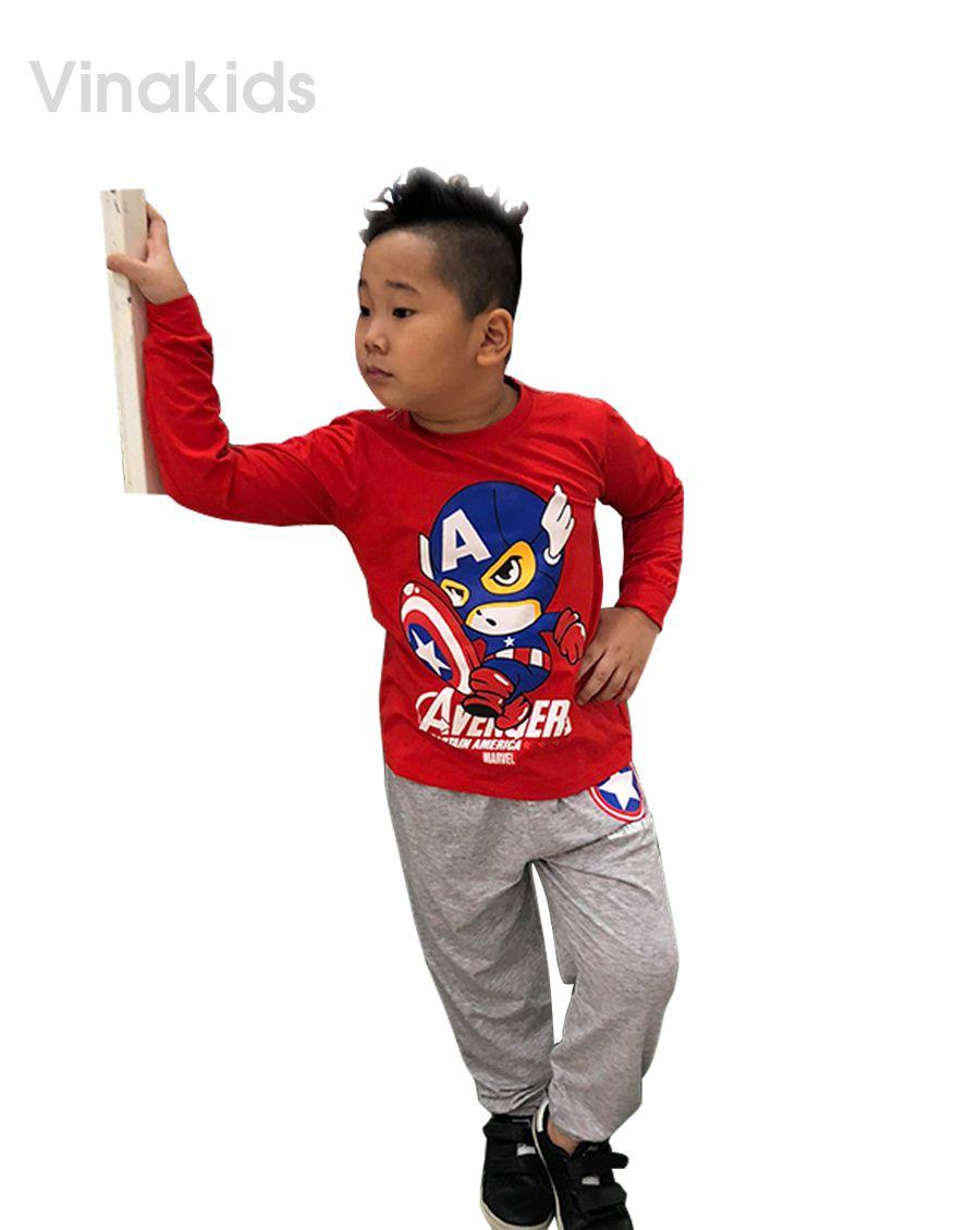 Đồ bộ bé trai siêu nhân Mavel đỏ (1-7 tuổi)