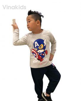 Đồ bộ bé trai siêu nhân Mavel ghi (1-7 tuổi)