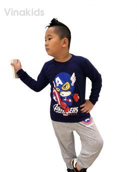 Đồ bộ bé trai siêu nhân Mavel tím than (8-12)
