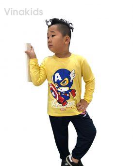 Đồ bộ bé trai siêu nhân Mavel vàng (1-7 tuổi)