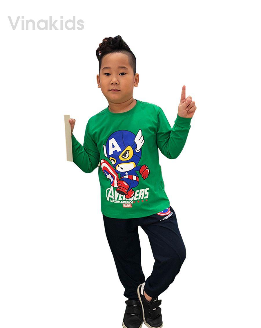 Đồ bộ bé trai siêu nhân Mavel xanh lá (8-12 tuổi )