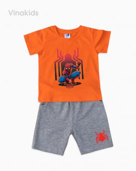 Đồ bộ bé trai siêu nhân màu cam có tay