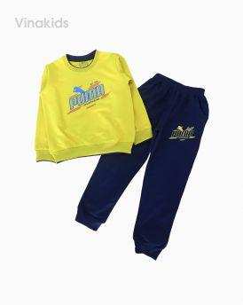 Đồ bộ bé trai thể thao Puma màu xanh cốm (7-12 tuổi)