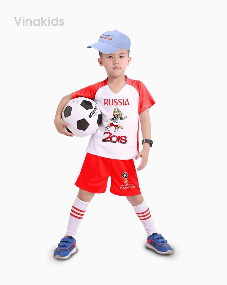 Đồ bộ bé trai thể thao màu đỏ nhí