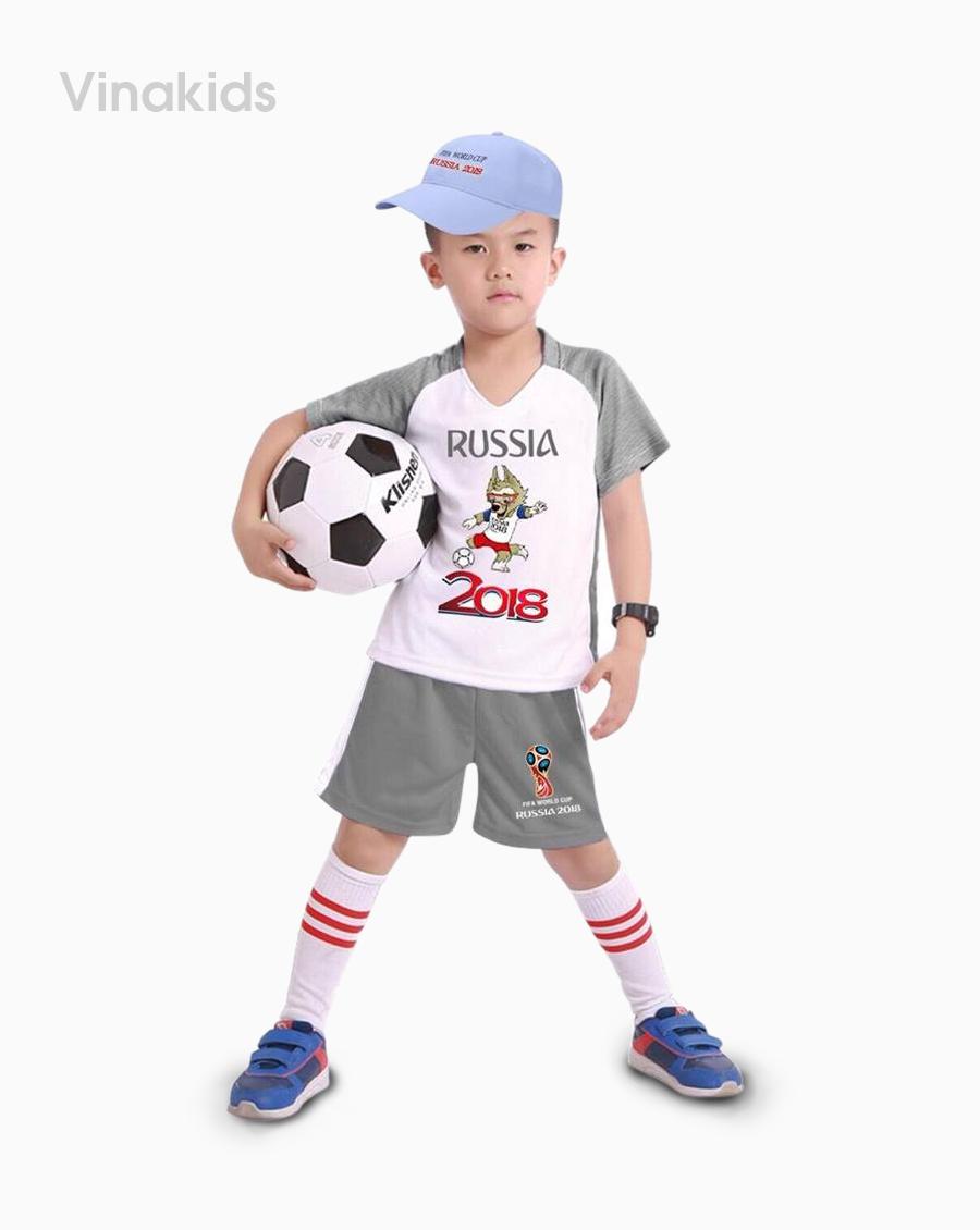 Đồ bộ bé trai thể thao màu ghi đại