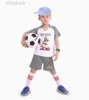 Đồ bộ bé trai thể thao màu ghi nhí