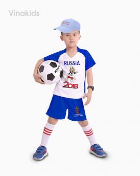 Đồ bộ bé trai thể thao màu xanh dương đại