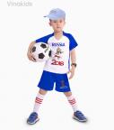 Đồ bộ bé trai thể thao màu xanh dương nhí