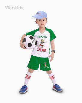 Đồ bộ bé trai thể thao màu xanh lá đại