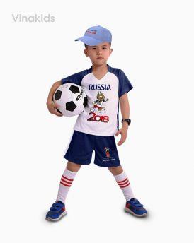 Đồ bộ bé trai thể thao màu xanh xám nhí