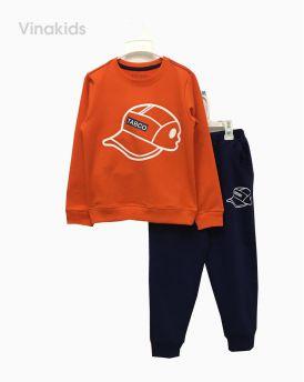 Đồ bộ nỉ bé trai hình mũ màu cam (8-12 tuổi)