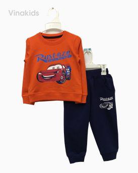 Đồ bộ nỉ bé trai ô tô MC màu cam (1-7 tuổi)