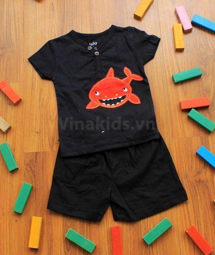 Đồ bộ quần áo bé trai Toby cá mập