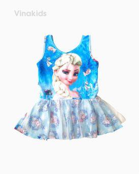 Đồ bơi bé gái Elsa màu xanh (4-7 tuổi)