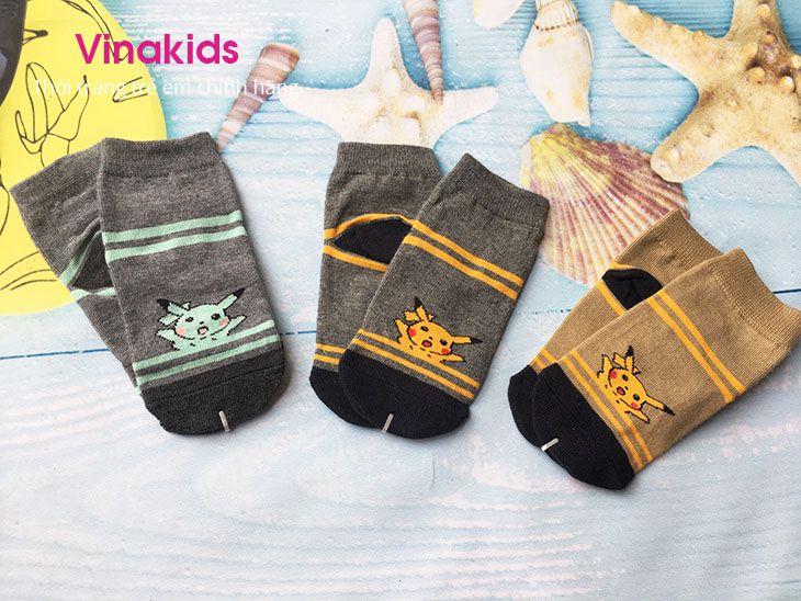 MUA 5 TẶNG 1 tất Pikachu siêu đáng yêu (1-4 tuổi)