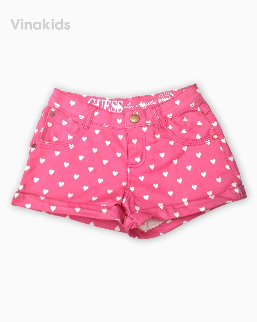 Quần bé gái chấm bi Kaki màu hồng sen (2-10 tuổi)