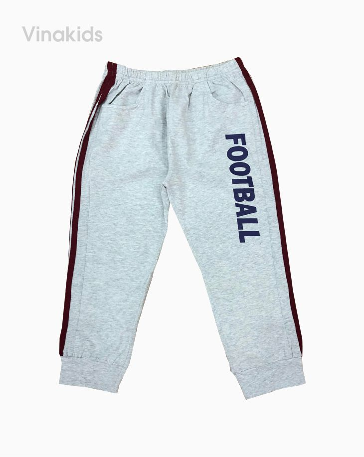Quần bé trai football dáng thể thao viền đỏ (6-10 tuổi)
