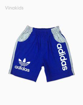 Quần cotton adidas bé trai màu xanh coban