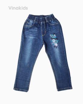Quần dài jeans bé gái hoa kim tuyến (5-8 tuổi)