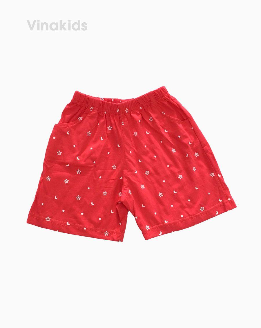 Quần đùi bé gái hình trăng sao màu đỏ (7-12 Tuổi)