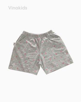 Quần đùi bé gái hình trăng sao màu ghi (7-12 Tuổi)