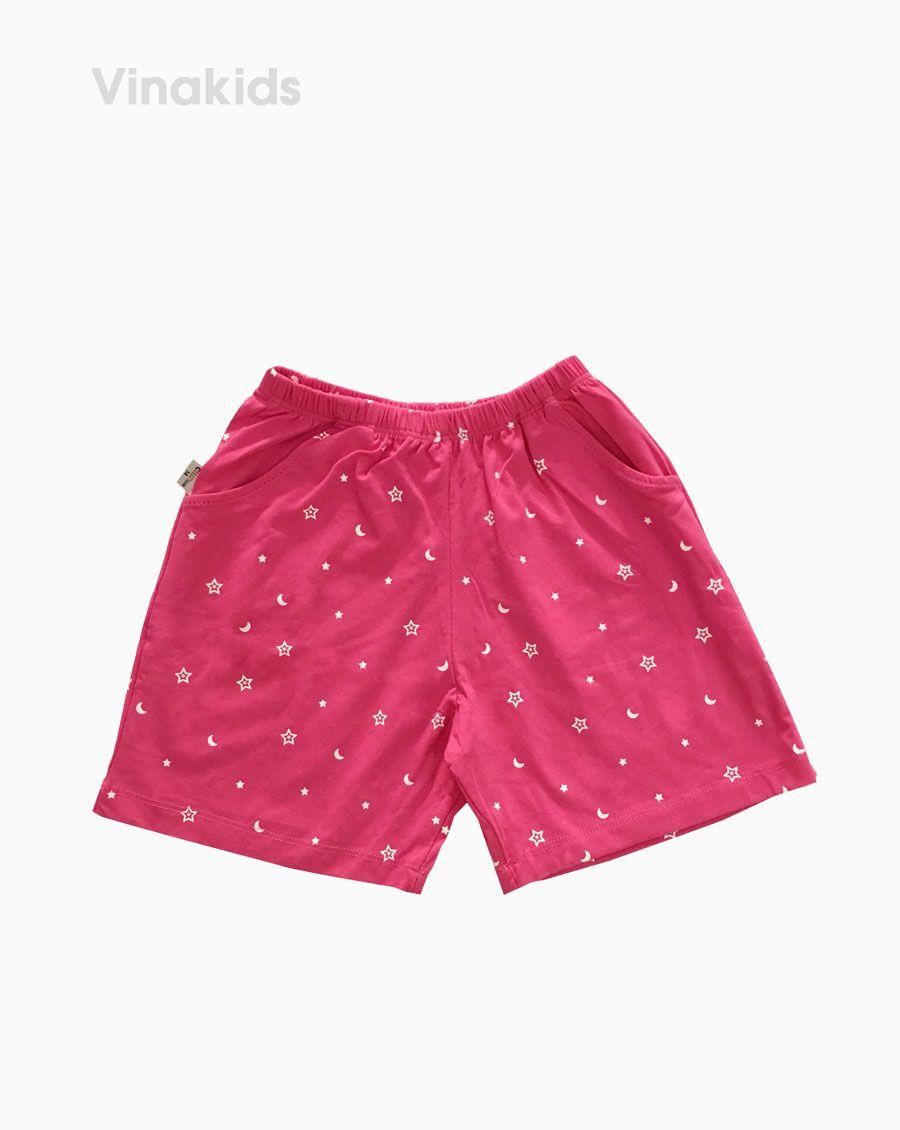 Quần đùi bé gái hình trăng sao màu hồng (7-12 Tuổi)