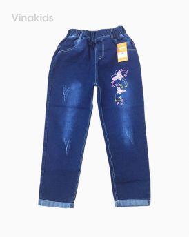 Quần jeans bé gái thêu bướm (6-9 tuổi)