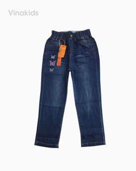 Quần jeans bé gái thêu bướm cho bé từ (4-9 tuổi)