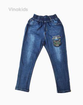 Quần jeans dài bé gái thêu mèo( 6-10 Tuổi)